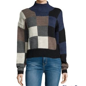 Current/Elliott The Boxy Checkered Shades Sweater